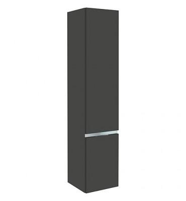 armoire haute MBH, 2 portes anthracite brillant, butée à gauche 350x1655x370mm