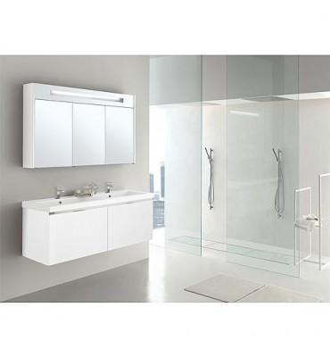 Kit de meuble de bain EPIX MBH blanc mat 2 tiroirs