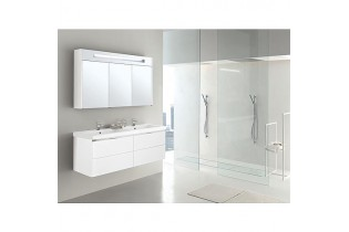 Kt de meuble de bain EPIC MBH blanc brillant 4 tiroirs