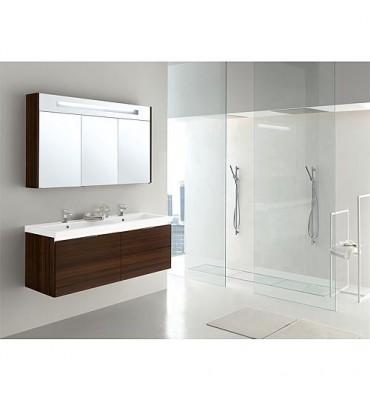 Kit de meuble de bain EPIC MBH mélèze marron 4 tiroirs