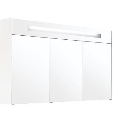 Armoire a glace avec éclairage intégré blanc brillant et 3 portes 1200x750x188 mm