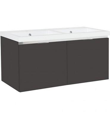 Meuble sous vasque +vasque fonte EPIC 2xtiroirs, anthracite brillant 1210x580x510 mm