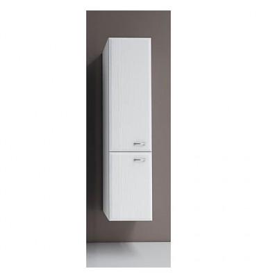 Armoire haute Serie MAC 2 portes decor blanc ouverture gauche lxHxP 300x1277x320 mm
