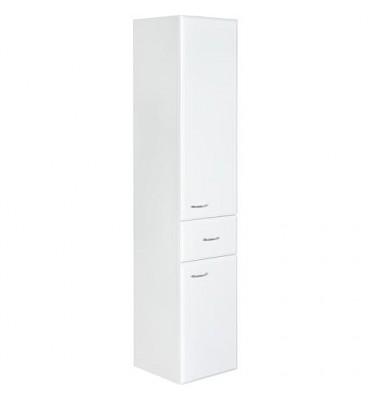 Meuble haut Serie MAC 2 portes 1 tiroir,blanc brillant ouverture gauche lxHxP 300x1440x320 mm