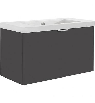 Meuble sous vasque + vasque EPIL anthracite mat, 1 tiroir 710x550x510mm