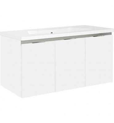 Meuble sous vasque + vasque blanc mat ENOVI 3 portes