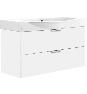 Meuble sous vasque +vasque ESBI blanc mat 2 tiroirs 970x590x380/490