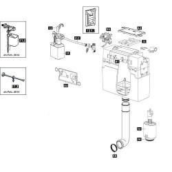 Mecaniseme WC Schwab pour modele 187.1200, complet 239233